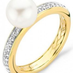 Blush Ring Zirconia en Parel Geelgoud