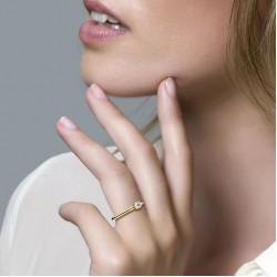 Blush Solitair Ring Zirconia Geelgoud