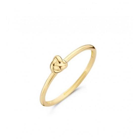 Blush Aanschuif Ring Geelgoud Knoop