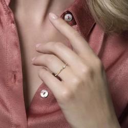 Blush Aanschuif Ring Geelgoud Zirconia