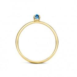 Blush Aanschuif Ring Geelgoud Blauwe Topaas