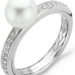Blush Ring Zirconia Witgoud Parel 1037WPG