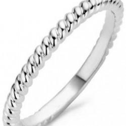 Blush Gedraaide Ring Witgoud