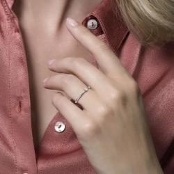 Blush Aanschuif Ring Witgoud Zirconia