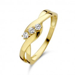 Joy&Julia Ring Geelgoud Zirconia