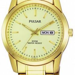 Pulsar Horloge Goudkleurig Dag/Datum