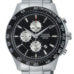 Pulsar Horloge Chronograaf Zwart