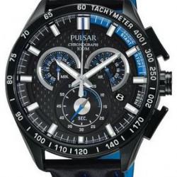 Pulsar Horloge Chronograaf Zwart Blauw