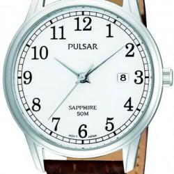 Pulsar Horloge Saffier Glas Leer