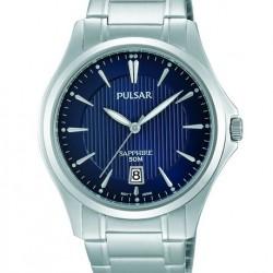Pulsar Horloge Blauw met Saffier Glas